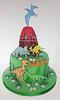 Dinosaurs for Max (Cake Diane) Tags: dinosaur birthday cake fondant tiered volcano trex