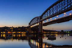 Blue Hour on The Tamar (Rich Walker75) Tags: tamar tamarbridge rivertamar saltash plymouth devon cornwall bridge bridges architecture river dusk bluehour water landscape landscapes landscapephotography landmark landmarks canon eos100d efs1585mmisusm eos england greatbritain