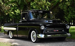 "1955 Chevrolet ""Custom Fleetside"" Pickup Truck (Custom_Cab) Tags: 1955 chevrolet chevy pickup truck fleetside fleet side custom black pick up street rod 2nd late series generation second 3100"
