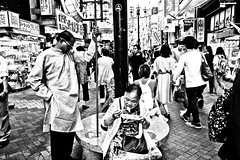 Street Food Fest Dotonbori (Victor Borst) Tags: street streetphotography streetlife reallife real realpeople asia asian asians faces face candid travel travelling trip traffic traveling urban urbanroots urbanjungle food eat dirty blackandwhite bw raw mono monotone monochrome mankind osaka dotonbori streetfood goodlife fuji fujifilm xpro2 expression japan japanese