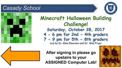 Minecraft Halloween Challenge by Wesley Fryer, on Flickr