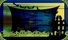 One Hallowe'en Night (Marcia Portess-Thanks for a million+ views.) Tags: onehalloweennight map marciaportess halloween allhallowseve scary boo art elarte digitalart elartedigital naiveart illustration multimedia photomanipulation effects halloweenart text