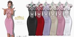 Chantal all colors SL (Shine Messmer - Glitter Fashion & Glitter Poses & ) Tags: chantal glitter romantic lace