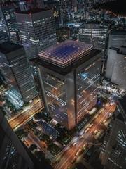 Shinjuku NS building (karinavera) Tags: city night photography cityscape urban ilcea7m2 shinjuku japan tokyo aerial building