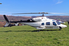 N222WX   Bell 222A [47021] (Newtown Aviation Inc) Cheltenham Racecourse~G 18/03/2005 (raybarber2) Tags: 47021 approach cn47021 cancelled egbc flickr helicopter johnboardleycollection n222wx usacivil