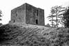 Lydford Castle (Pexpix) Tags: blackandwhite castle film film201706 fort ilfordhp5 injustice kodakd76 norman ricohgr1v antiquated bailey gaol prison ruins twelfthcentury lydford england unitedkingdom
