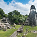 Archaelogical Maya city Tikal in Guatemala - Central place with temples, palaces,