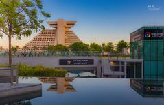 Sheraton - LaLiga Lounge (Mohamed Rimzan) Tags: doha qatarliving qatar landscape canon80 city sky blue football sheraton hotel park tokina
