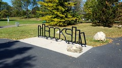 Thompson Park (dankeck) Tags: books sign public art library bike rack bicycle central ohio franklincounty park suburb
