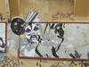 673 (en-ri) Tags: gusanos people bianco nero faccia face viso volto bologna wall muro graffiti writing luna moon stars stelle giallo