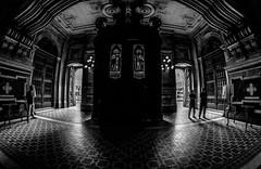 Na Igreja da Candelária - Rio de Janeiro (mariohowat) Tags: igrejasdoriodejaneiro igrejadacandelária riodejaneiro samyang8mm fisheye pretoebranco pb brasil brazil bw blackandwhite monochrome blancoynegro canon