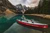 Morraine lake (Myles Pinkney Photography) Tags: lake banff canada row boat rowingboat landscapephotography reflection mirror mountain glacier alpine alberta nikond5300
