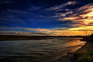 Twilight on the Waitaki River