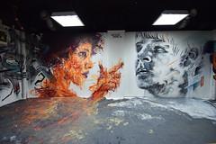 Never Again (HBA_JIJO) Tags: streetart urban graffiti paris art france artist hbajijo wall mur painting aerosol peinture portrait murale spray mural woman bombing femme urbain girl rehab rehab2 charlènecandératz alexisbuststephens
