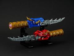 The Dragon Blades (Anthony (The Secret Walrus) Wilson) Tags: dragon lego moc creation creature afol sword dagger knife