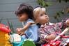 Baby Has the Chops (Emily1957) Tags: babysasha vintage sashamorgenthaler harlequin serena repaint bibastyle guitar toys toy dolls doll vinyl toyguitar toypiano babytoy light naturallight nikond40 nikon juliankalinowski