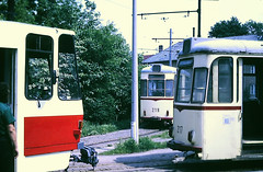 Slide 105-35 (Steve Guess) Tags: tram strasenbahnwagen strasenbahn streetcar трамвай ost east germany deutschland allemagne германия potsdam