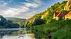 Summer Memories (fentonphotography) Tags: nature prague berounkariver ceskykras nationalpark czechrepubic bluesky clouds cliffs landscape greengrass building
