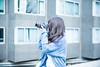 A Girl Takes Photos (Dick Thomas Johnson) Tags: japan tokyo shibuya harajuku 日本 東京 渋谷 原宿 コープオリンピア coopolympia camera カメラ 写真 撮影 shooting photo takingpicture canon キャノン photographer 写真家 highschoolgirl 女子高生 jk highschoolstudent 高校 高校生 highschool student