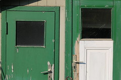 white green (Pascal Volk) Tags: berlin friedrichshain fhain stralau landzunge halbinsel berlinfriedrichshainkreuzberg herbst fall autumn otoño puertas doors türen 105mm canoneos6d sigma105mmf28exdgoshsmmacro