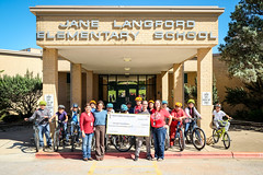 Big Check (City of Austin Office of Sustainability) Tags: bicycling bike austin austintexas langfordelementary austinindependentschooldistrict cycleacademy elementary bigcheck nonprofit localgovernment citygovernment