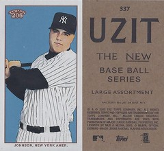 2002 / 2003 - Topps 206 Mini Baseball Card / Series 3 / Uzit - NICK JOHNSON #337 (First Baseman / Designated Hitter) (New York Yankees) (Baseball Autographs Football Coins) Tags: series3 2002 2003 topps 206 topps206 uzit mini card minicard baseballcard 2002topps206 nickjohnson newyorkyankees firstbase designatedhitter