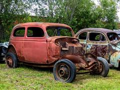 Rusty Old Cars (J Wells S) Tags: junk abandoned rust rusty crusty fordcoupe michelscollisionrestoration dennismichel alanson michigan chrome vehicles cars