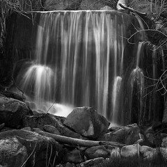 Shower Curtain (arbyreed) Tags: arbyreed monochrome bw blackandwhite squareformat falls smallfalls slowshutterspeed utahcountyutah water explore