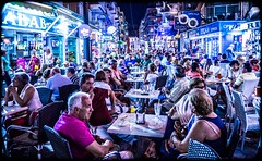 Old Town. Benidorm. (CWhatPhotos) Tags: benidorm old town oldtown people many full night nighttime cwhatphotos holiday clouds cloud sky above skies olympus omd em10 digital camera photographs photograph pics pictures pic picture image images foto fotos photography artistic that have which with contain