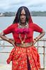A Lamhani Woman at the Bridge in Goa. (Anoop Negi) Tags: lamhani lambadi lambadiya woman fashion jewellery tribe ancient gypsy gypsies nomad nomads travel goa india dona paula panjim panaji portrait color dress traditional anoop negi ezee123 photo photography