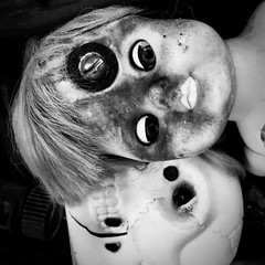 Screwed doll (belashti) Tags: americanvisionaryartmuseum doll skeleton baltimore maryland creepy dark disturbing