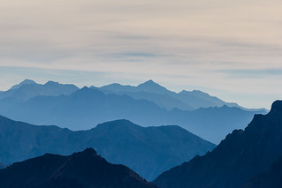 vue Sud depuis la lac de Souliers