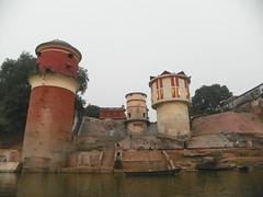 Varanasi 50b1 - water works (juggadery) Tags: 2015 india uttarpradesh varanasi benares banaras kashi cityoflight urban architecture building water ganga ganges ghats boattrip