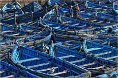 Maroc.  Essaouira. (leonhucorne) Tags: bleu maroc essaouira barques travel voyage afrique nikon d7000 couleurs flickrtravelaward marine pêche port