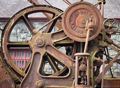 Gilfach Ddu steam crane 01 oct 17 (Shaun the grime lover) Tags: wales industrial machinery rusty wheel dinorwic dinorwig llanberis gilfachddu slate museum workshop quarry steam crane piston crank flywheel