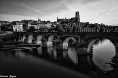 Albi (karmajigme) Tags: albi tarn occitanie france travel landscape river bridge monochrome noiretblanc blackandwhite nikon