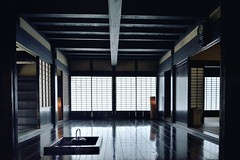 A Japanese feel (RomImage) Tags: japan japanese indoor classic traditional trad wood wooden mood moody nobody quiet relax cool zen meditation yoga calm relaxing clean architecture historical house historicalhouse asia minshuku ryokan interior japaneseinterior shoji fusuma panel