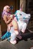 Fringe Festival Street Performer (Shadowgate) Tags: fringe festival 2017 street performer edinburgh scotland unicorn dog bagpiper