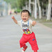 儿子在大宁公园奔跑
