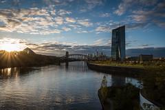 2017 Blick von der Osthafenbrücke (mercatormovens) Tags: frankfurt ostend ezb main fluss wasser brücke skyline hochhaus ecb osthafenbrücke