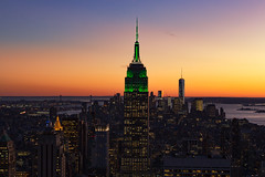 Dusk (Bob90901) Tags: dusk bluehour sunset newyorkcity civiltwilight autumn manhattan empirestatebuilding oneworldtradecenter topoftherock rpg90901 cityscape skyscraper skyline statueofliberty rockefellercenter evening canon 6d canonef70200mmf28lisiiusm canon70200f28lll tower sky 2015 november 1658 architecture building nyc