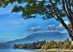 English Bay View October 2017 (Valerie Sauve-Vancouver) Tags: englishbay beach vancouverbc views scenery water fall nikon