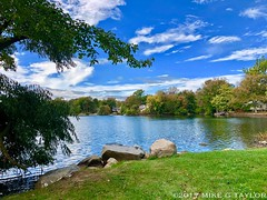 (MikeGTaylorPhoto) Tags: iphoneography iphone8plus iphone8 iphone water rocks rock clouds cloud blueskies bluesky sky leaves trees tree newjersey nj parsippany lake photo photography