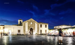 Evening (alessiochiolo) Tags: square piazza night notte lights light evening sky cloud clouds nuvole people walking sicilia italia sicily sicilian church italy italian travel dark buildings building cool love nikon long exposure cielo marzamemi siracusa pachina town