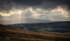 Light rays from the sky (mak_9000) Tags: lightrays landscape countryside windfarm woodland sigma105mmf28exdgoshsm breconbeacons wales uk clouds