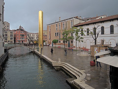 KINKY GOLDFINGER by LitterART - Venice, Campo S. Vio, Golden Tower by James Lee Byars