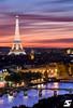 Paris depuis la tour Saint Jacques (A.G. Photographe) Tags: anto antoxiii xiii ag agphotographe paris parisien parisian france french français europe capitale d810 nikon nikkor 70200vrii toursaintjacques toureiffel eiffeltower pontdesarts seine bluehour sunset