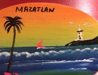 Sunny Mazatlan fridge magnet souvenir from recent Mexican Riviera cruise for Macro Monday #Souvenir theme