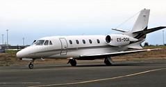 CS-DQA CESSNA CITATION 560 NEWCASTLE (toowoomba surfer) Tags: bizjet businessjet executiveaviation jet aeroplane aviation aircraft ncl egnt