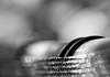 Curved lines. (Dikke Biggie.) Tags: happyfencedfriday hff fence fenced fencing fencedfriday hek hekwerk omheining friday vrijdag closeup detail macro dof depthoffield scherptediepte canon canoneos450d 100mm f28 blackandwhite bw black white zwartwit zw zwart wit monochrome monochroom line lines lijn lijnen two twee bokeh dgawc canonnl